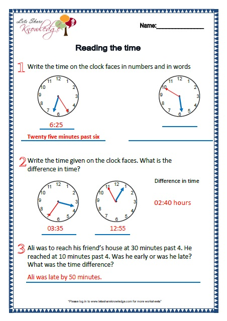 Grade 2: Maths Worksheets Part 1 + 2 (more topics) - Lets Share ...