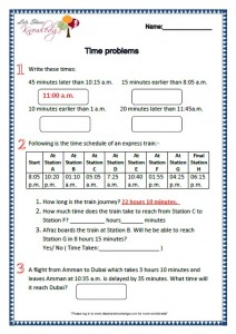 Grade 2 Maths Worksheets Time Problems