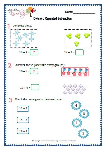 Division Worksheets : year 2 division worksheets ~ Free Printable ...