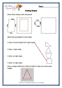 Grade two worksheets drawing shapes