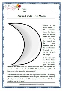 Annie finds the moon grade 1 comprehension