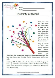 The party ruined grade 1 comprehension