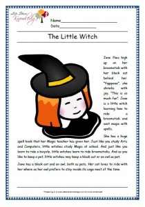little witch grade 1 comprehension