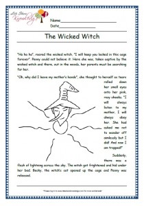 wicked witch grade 1 comprehension