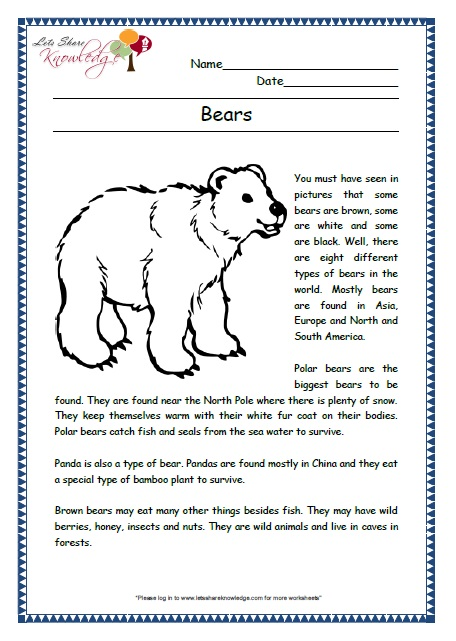 Printables Comprehension Grade 2 Tempojs Thousands Of