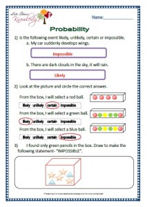 probability grade 2 maths worksheets