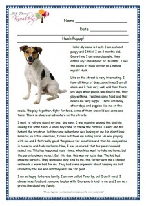 8 hush puppy grade 3 comprehension worksheet