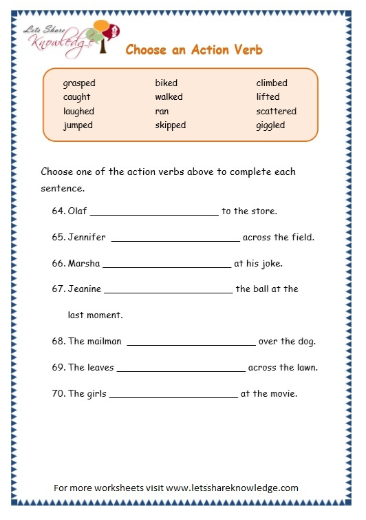 Page 11 Action Verbs Worksheet: Action Verbs Worksheets At Alzheimers-prions.com