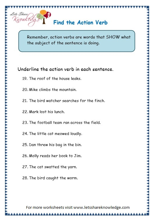 linking verb worksheet