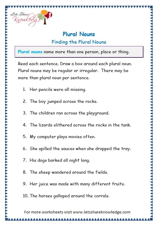 page 7 plurals worksheet