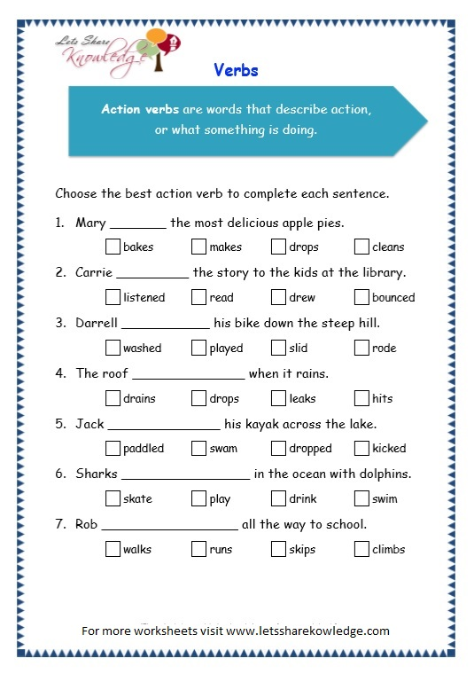 page 5 verbs worksheet