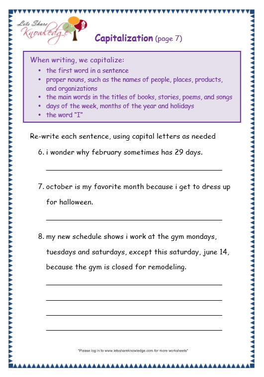 page 7 capitalization worksheet