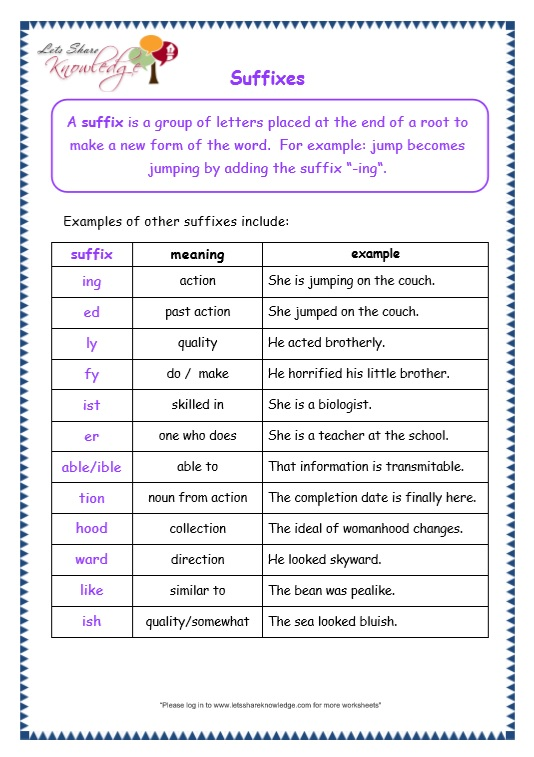 page 4 prefix and suffix worksheet