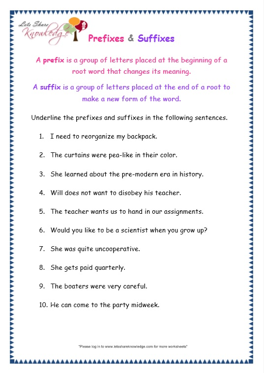 page 7 prefix and suffix worksheet