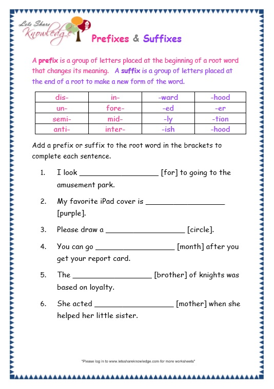 page 9 prefix and suffix worksheet