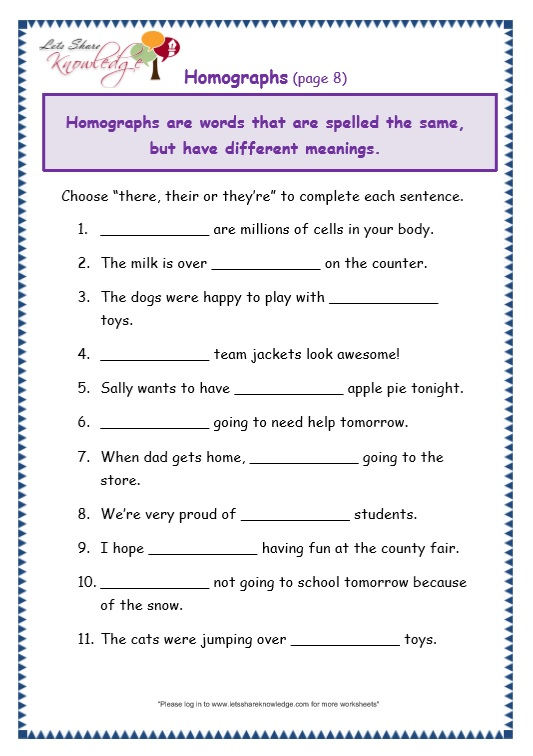 page 8 there, their, they're worksheet