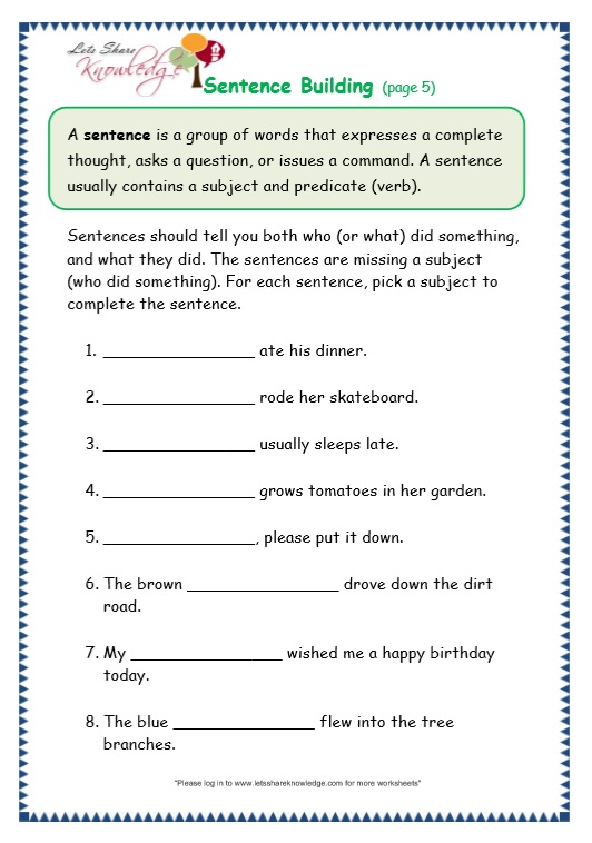 grade 3 grammar topic 35 sentence building worksheets lets share knowledge. Black Bedroom Furniture Sets. Home Design Ideas