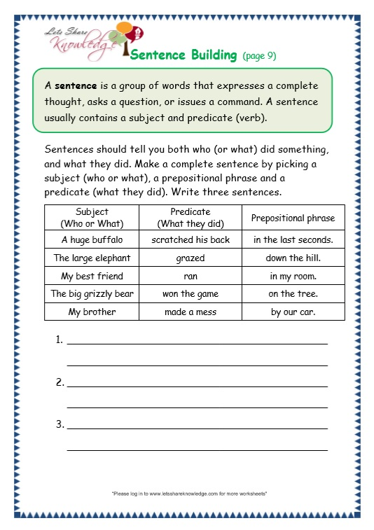 English Worksheets » Simple English Worksheets - Preschool and ...