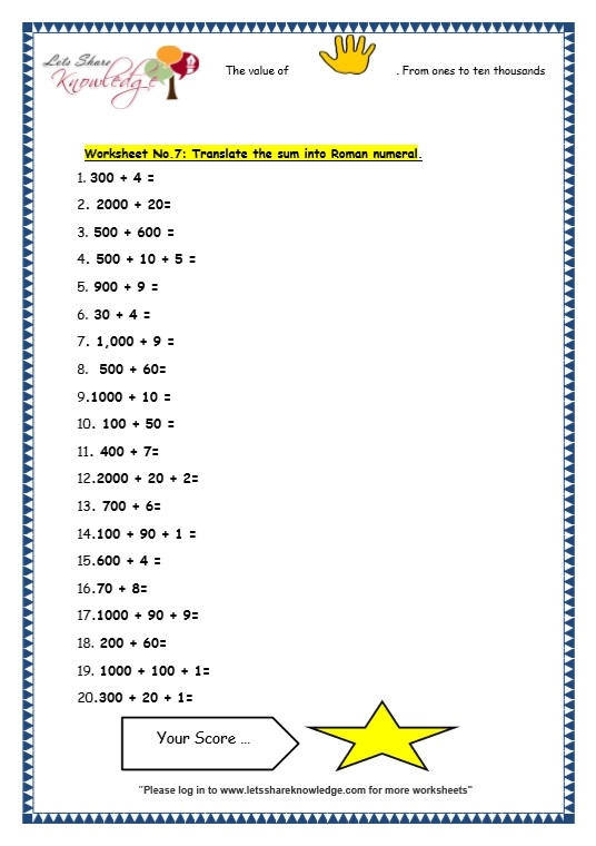 Numeration of 5 Digit Numbers worksheet