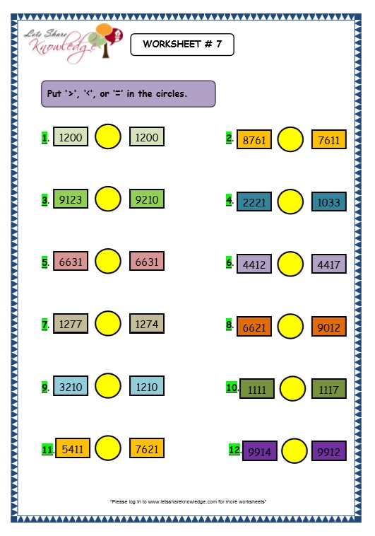 Skip Counting 4 Digit Numbers in the Number Line worksheet