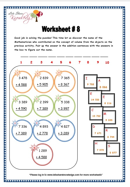 grade 3 maths worksheets addition 3 2 addition of 4 digit numbers with regrouping lets. Black Bedroom Furniture Sets. Home Design Ideas