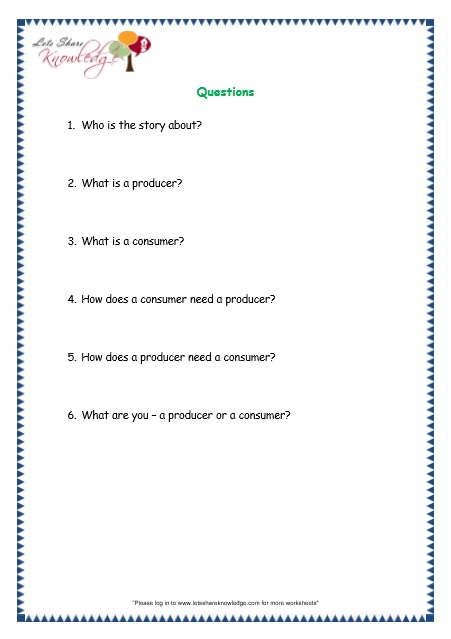 All Worksheets » Producers And Consumers Worksheets ...
