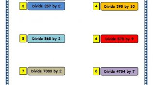 Grade 3 Maths Worksheets: Division (6.7 Short Division with Remainder)