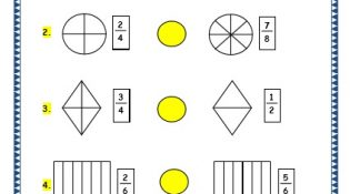 Grade 3 Maths Worksheets: (7.3 Bigger and Smaller Fractions)