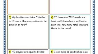 Grade 3 Maths Worksheets: Division (6.9 Short Division Word Problems)