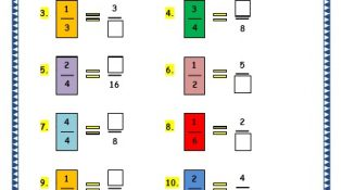 Grade 3 Maths Worksheets: (7.5 Equivalent Fractions)