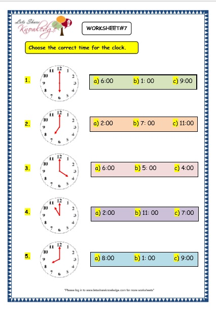 Free Worksheets » Maths Worksheets For Grade 3 On Time - Free ...