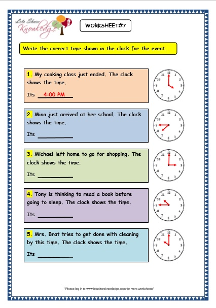 grade 3 maths worksheets 8 4 reading the time in am and pm lets share knowledge. Black Bedroom Furniture Sets. Home Design Ideas