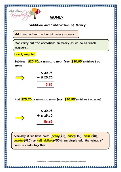 Grade 3 Maths Worksheets 10 2 Addition And Subtraction