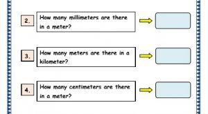 Grade 3 Maths Worksheets: (11.1 Measurement Facts)