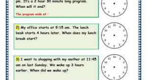 Grade 3 Maths Worksheets: (8.5 Time Problems)