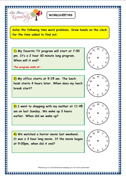 grade 3 maths worksheets 8 5 time problems lets share knowledge. Black Bedroom Furniture Sets. Home Design Ideas