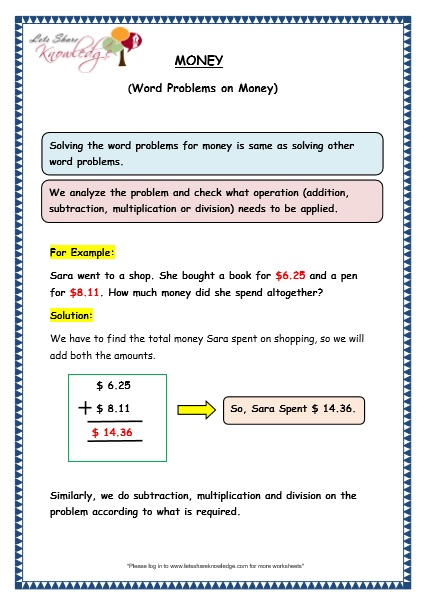 Common Worksheets » Division Word Problems Worksheets For Grade 6 ...