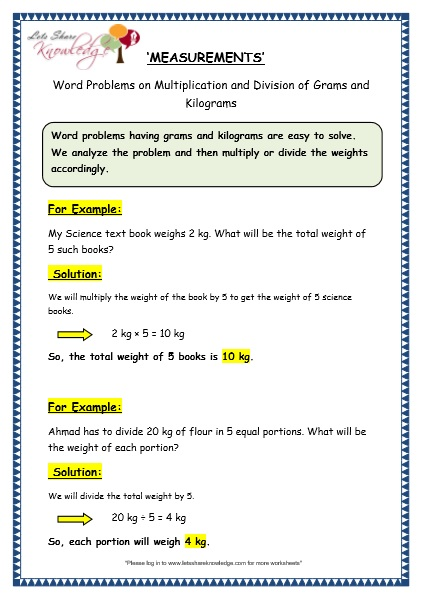 Math worksheets word problems 6th grade