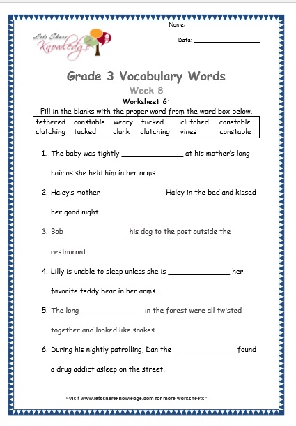 Geometry vocabulary worksheet matching