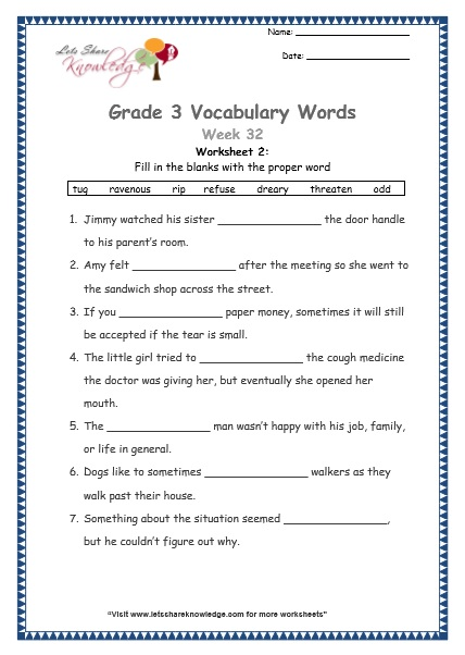 8th grade vocabulary practice worksheets