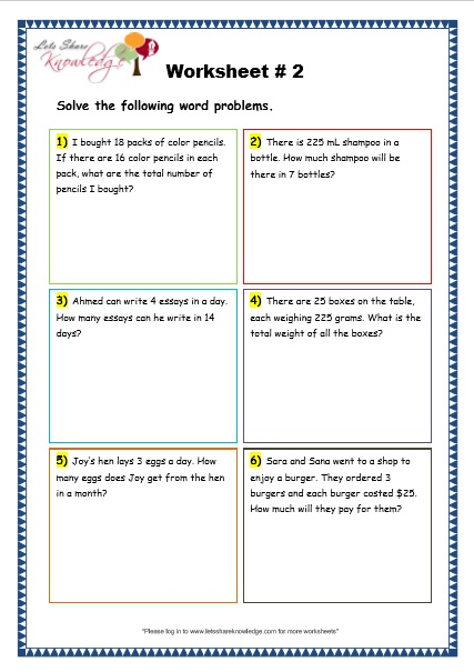 multiplication word problems worksheets grade 3. Black Bedroom Furniture Sets. Home Design Ideas