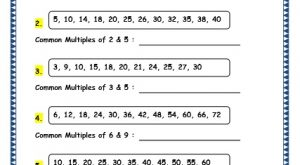 Grade 4 Maths Resources (1.10 Multiples Printable Worksheets)