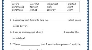Grade 4: Vocabulary Worksheets Week 5