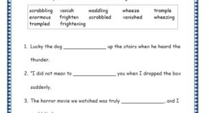 Grade 4: Vocabulary Worksheets Week 17