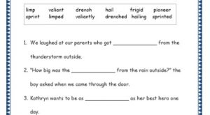 Grade 4: Vocabulary Worksheets Week 31