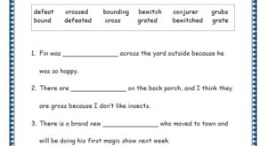 Grade 4: Vocabulary Worksheets Week 34