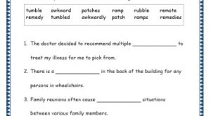 Grade 4: Vocabulary Worksheets Week 39