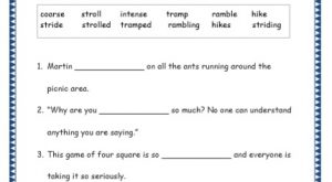 Grade 4: Vocabulary Worksheets Week 49