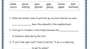 Grade 4: Vocabulary Worksheets Week 50