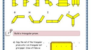 nets 3 D shapes grade 5 maths resources printable Worksheet